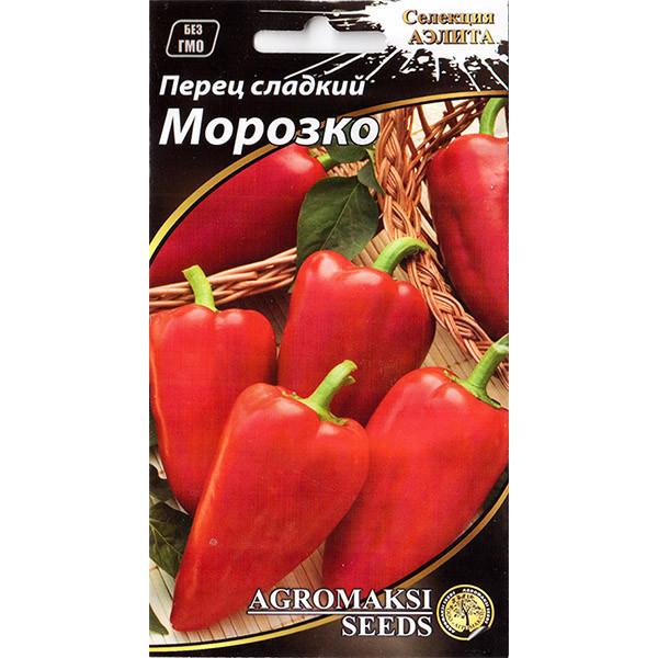 """Семена перца сладкого, среднеспелого """"Морозко"""" (0,2 г) от Agromaksi seeds"""