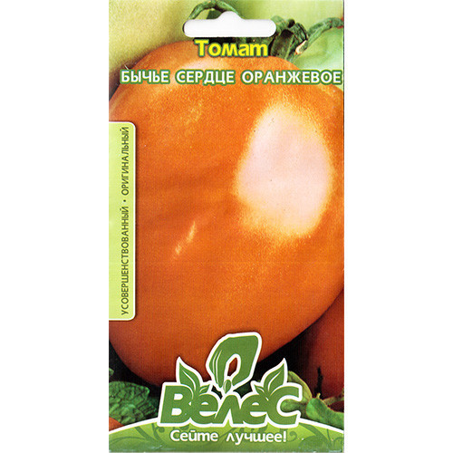 """Насіння томату """"Бичаче серце помаранчеве"""" (0,15 г) від ТМ """"Велес"""""""