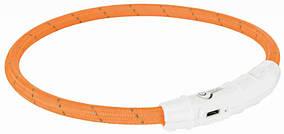 Нашийник Trixie Safer Life USB Flash Light Ring для собак світиться 45 см помаранчевий (12704)