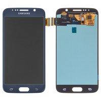 Дисплей для Samsung G920 Galaxy S6, синий, с сенсорным экраном, (OLED), High Copy