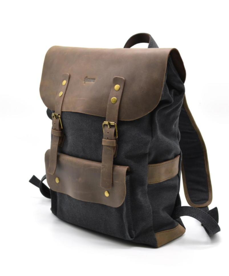 Рюкзак унисекс парусина+кожа RG-9001-4lx бренда TARWA