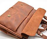 Чоловіча сумка для ноутбука і документів TARWA RB-7107-3md, crazy horse, фото 7
