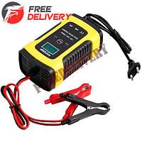 Умное зарядное устройство для авто аккумуляторов 12В 6А ЖК ZYX-J10