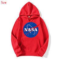 Толстовка Nasa лого | Худи красная