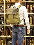 Рюкзак міський, парусина+шкіра RC-3880-H від бренду TARWA, фото 9