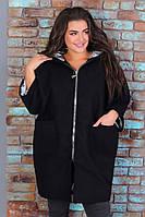 Пальто женское кашемировое батал, фото 1
