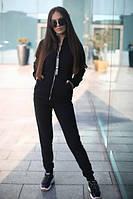 Спортивный женский костюм на флисе с мастеркой на молнии 52msp802