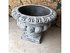 Кашпо горщик для квітів декоративна вінтажний кам'яний, фото 3