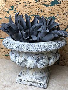 Кашпо горшок для цветов декоративный винтажный каменный