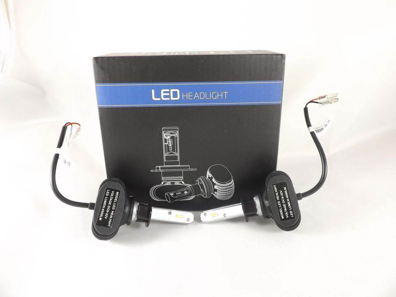 LED лампы Н1 6000К 25W  Автомобильные светодиодные лампы с активным охлаждением S1 +ПОДАРОК!