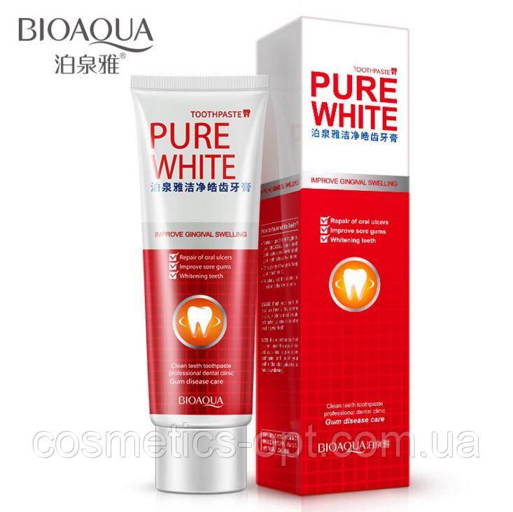 Отбеливающая зубная паста BIOAQUA PURE WHITE с клюквой, 120 г