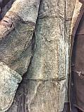 Дубленка мужская женская унисекс натуральная 50 52 размер дубленка из овчины натуральный мех, фото 6