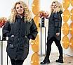 Куртка с капюшоном женская на змейке плащевка Канада+200 синтепон 48-50,52-54,56-58,60-62, фото 3