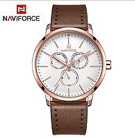 Мужские наручные кварцевые часы Naviforce NF3001-RGW