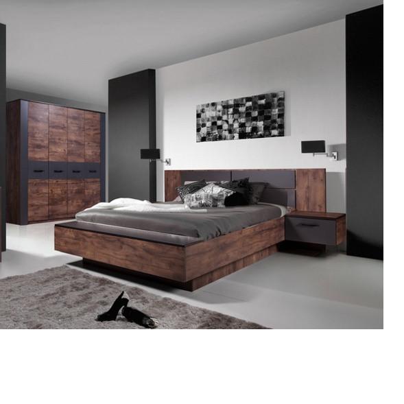 Ліжко Неман ВІРДЖИНІЯ Н-218 з ДСП графіт+таксус