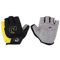 Велосипедные перчатки без пальцев,гель. Велосипедні рукавиці MOKE желтый, L