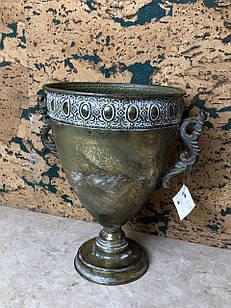 Чаша металева декоративна вінтажна