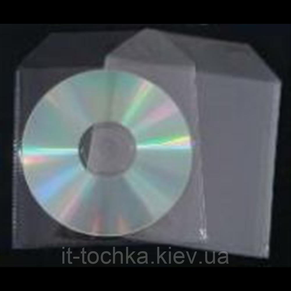 Бокс Конверт пластик для 1cd (брать кратно 100) (1cd sleeve)