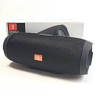 Портативная колонка bluetooth блютуз акустика для телефона с флешкой повербанк черная CHARGE3