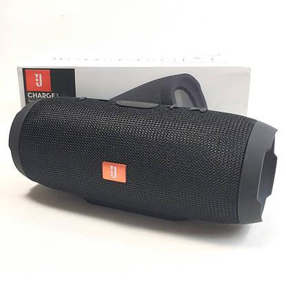 Портативная колонка bluetooth блютуз акустика для телефона с флешкой повербанк черная CHARGE3, фото 2