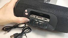 Портативная колонка bluetooth блютуз акустика для телефона с флешкой повербанк черная CHARGE3, фото 3