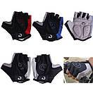Велосипедні рукавички без пальців,гель. Велосипедні рукавиці MOKE червоний, M, фото 5