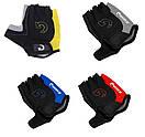 Велосипедні рукавички без пальців,гель. Велосипедні рукавиці MOKE червоний, M, фото 9