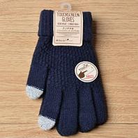 Рукавички для сенсорних телефонів TouchGloves Темно-Сині, фото 1