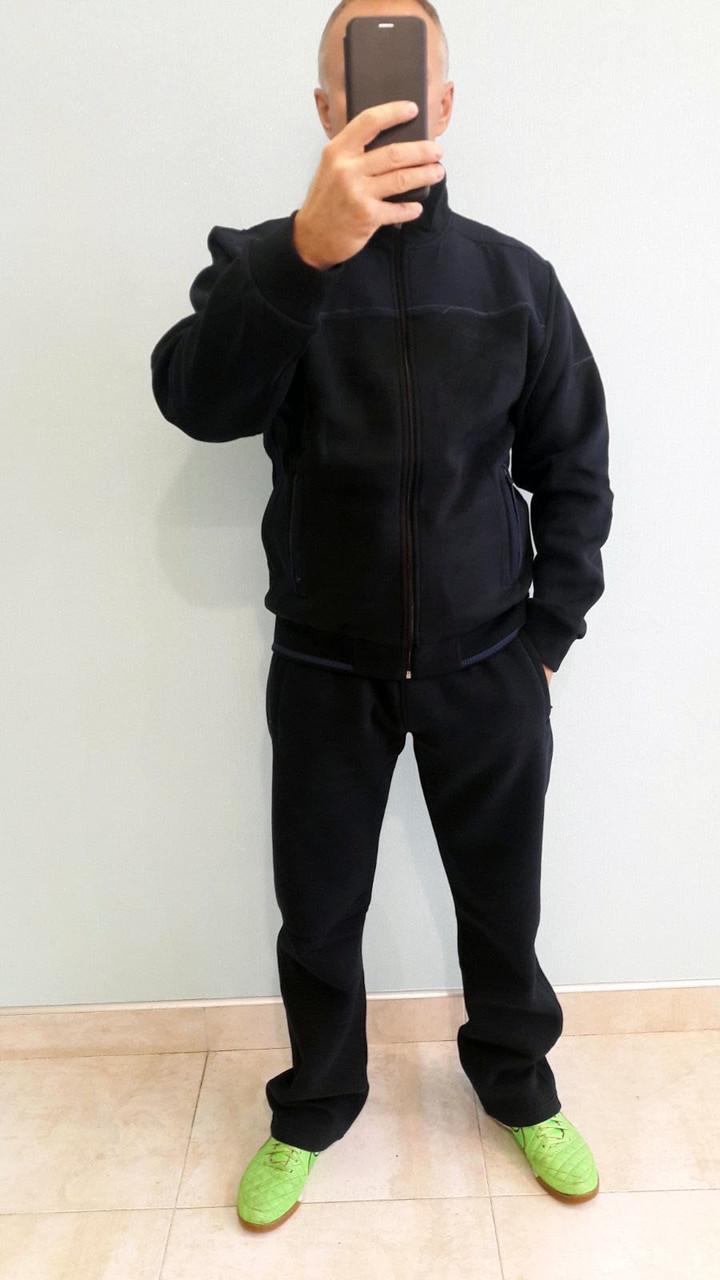 Очень теплый мужской спортивный костюм Sporaf трикотажный Синий