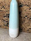 Ваза для цветов декоративная голубая большая керамическая высокая, фото 2