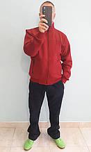 Очень теплый мужской спортивный костюм Sporaf трикотажный Красный