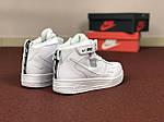 Мужские зимние кроссовки Nike Air Force (белые), фото 2