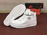 Мужские зимние кроссовки Nike Air Force (белые), фото 3