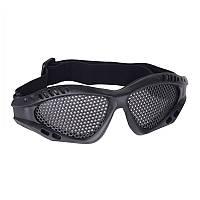 Страйкбольные очки-сетка защитные (стальные). Окуляри для гри у страйкбол (Airsoft) черный