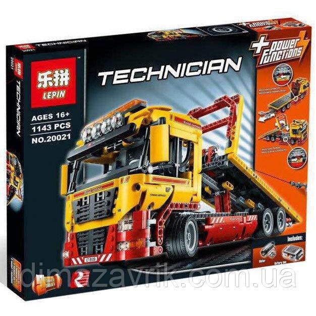 "Конструктор Lepin 20021 (Аналог Lego Technic 8109) ""Грузовик с платформой"" 1115 деталей"