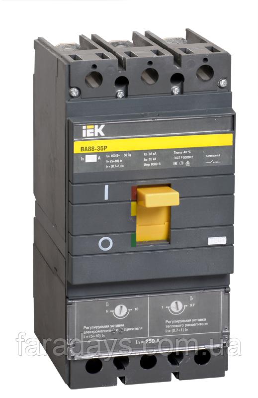 Автоматичний вимикач 3р, 200A, 35кА, регульований (ВА88-35Р IEK)