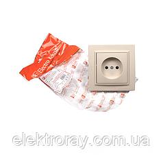 ElectroHouse Розетка без заземления латте Enzo EH-2191