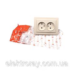 ElectroHouse Розетка двойная б/з латте Enzo EH-2193