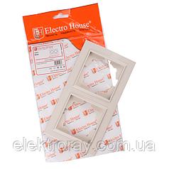 ElectroHouse Рамка двойная латте Enzo EH-2201