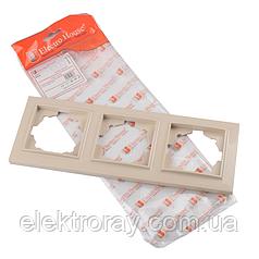 ElectroHouse Рамка тройная латте Enzo EH-2202
