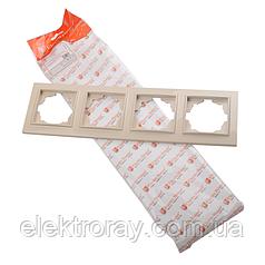 ElectroHouse Рамка четырехместная латте Enzo EH-2203