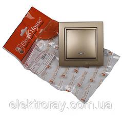 ElectroHouse Выключатель с подсветкой золото Enzo EH-2183-LG