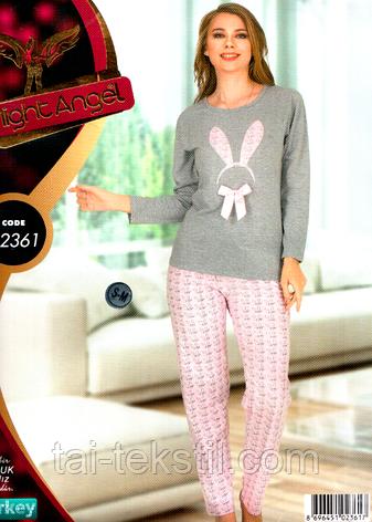 Пижама женская брюки и кофта качество лайкра Турция Night Angel № 02361, фото 2
