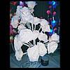 Букет Цветущая роза, 50 см, 60 LED ламп, тепло белый