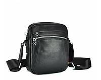 Сумка мужская через плечо Leather Collection (32) кожаная черная, фото 1
