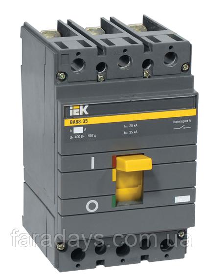 Автоматичний вимикач 3р, 200A, Im = 10In, 35кА (ВА88-35 IEK)