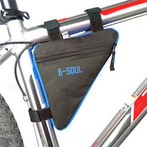 Велосумка подрамная сумка на велосипед. Велосипедная сумка  (ZACRO,B-SOUL) черно-синяя