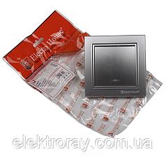 ElectroHouse Выключатель с подсветкой серебро Enzo
