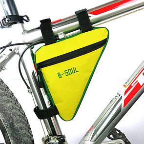Велосумка подрамная сумка на велосипед. Велосипедная сумка  (ZACRO,B-SOUL) желто-зеленая