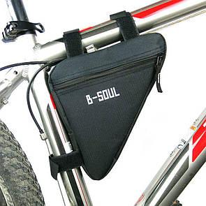Велосумка подрамная сумка на велосипед. Велосипедная сумка  (ZACRO,B-SOUL) черная